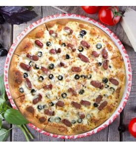 """Пицца """"с Охотничьей колбаской"""" 28cм."""
